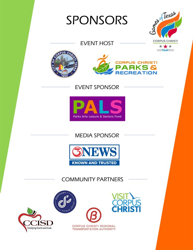 Summer 2021 TAAF Games of Texas - Sponsors Sheet